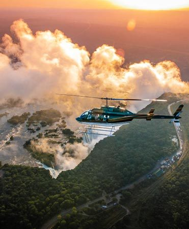 Helicopter Flight Victoria Falls Activity