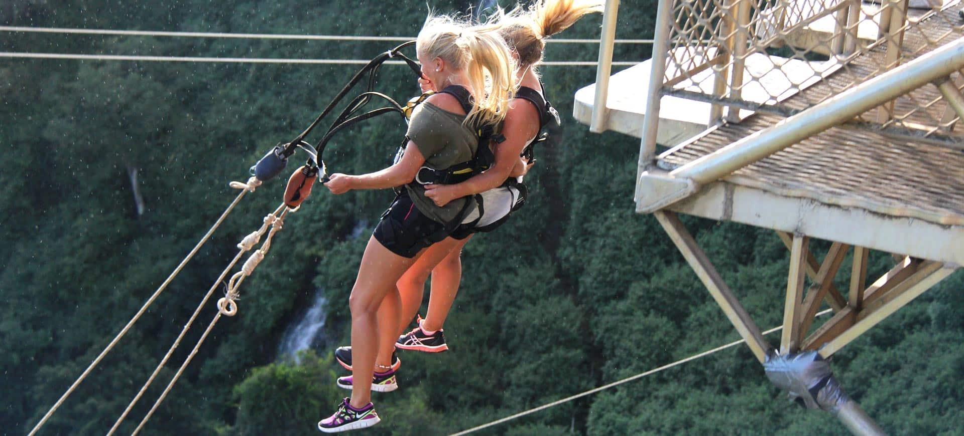 Tandem Bridge Swing Victoria Falls