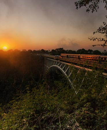 Victoria Falls Steam Train Dinner