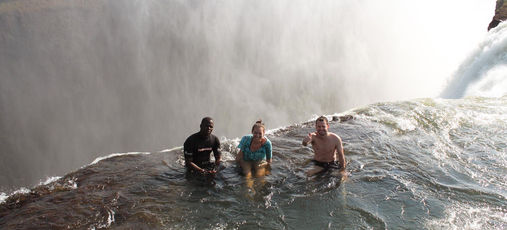 devil's pool victoria falls | livingstone island tour | visit